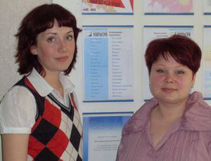 Анастасия Мартюшова (слева) и Юлия Макурина (справа)